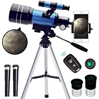 ToyerBee Telescope for Adults & Kids, 70mm Aperture (15X-150X) Portable Refractor Telescopes for Astronomy Beginners…