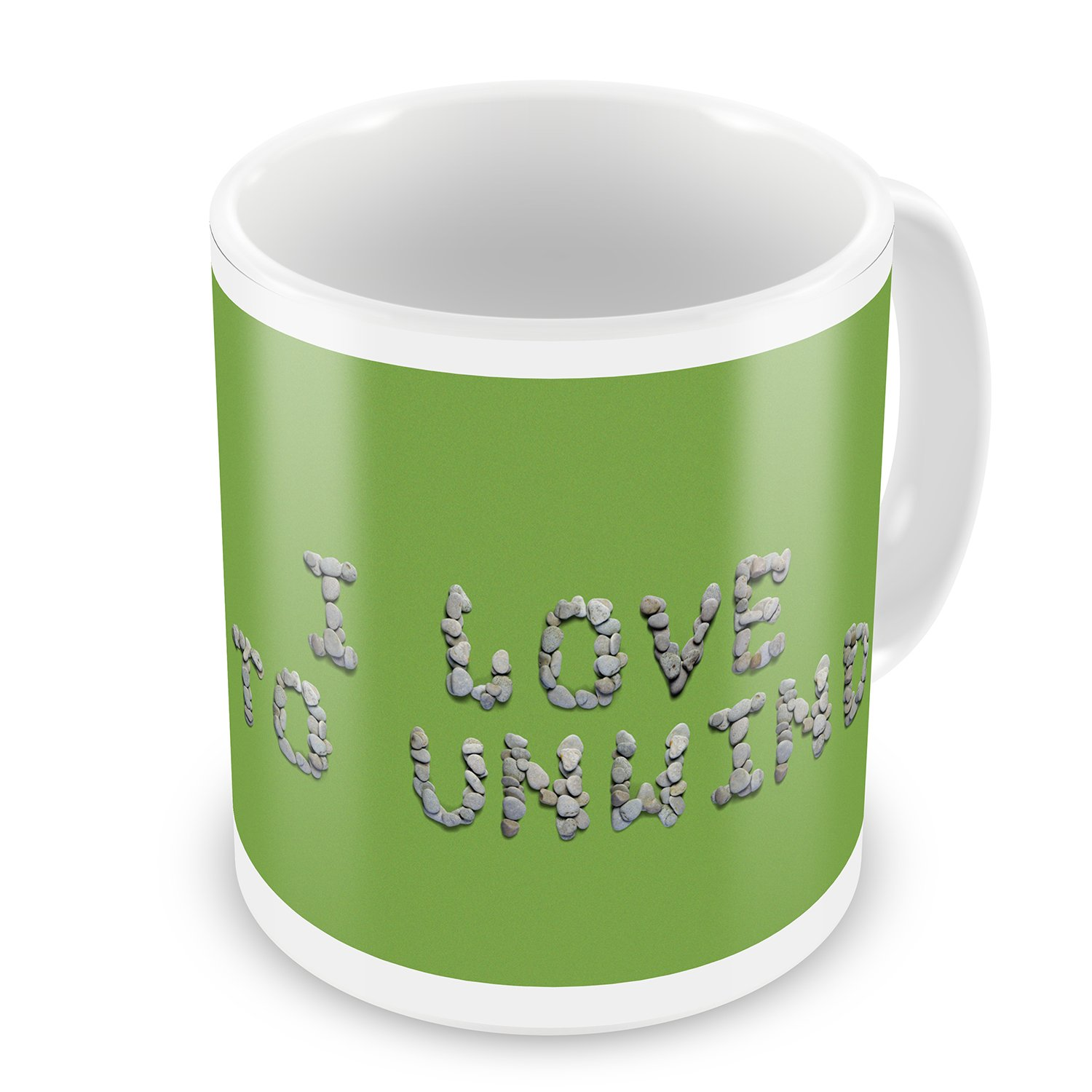 Coffee Mug I Love To Unwind Spa Stones Rocks - NEONBLOND