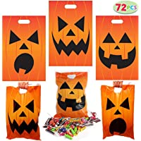 72 Pieces Halloween Jack O Lantern Trick Or Treat bags For Event Party Supplies