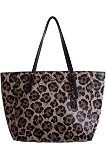 eeef4e82e2dd coupon code for coach womens leopard ocelot printed light turnlock tote li  wild beast tote a9926