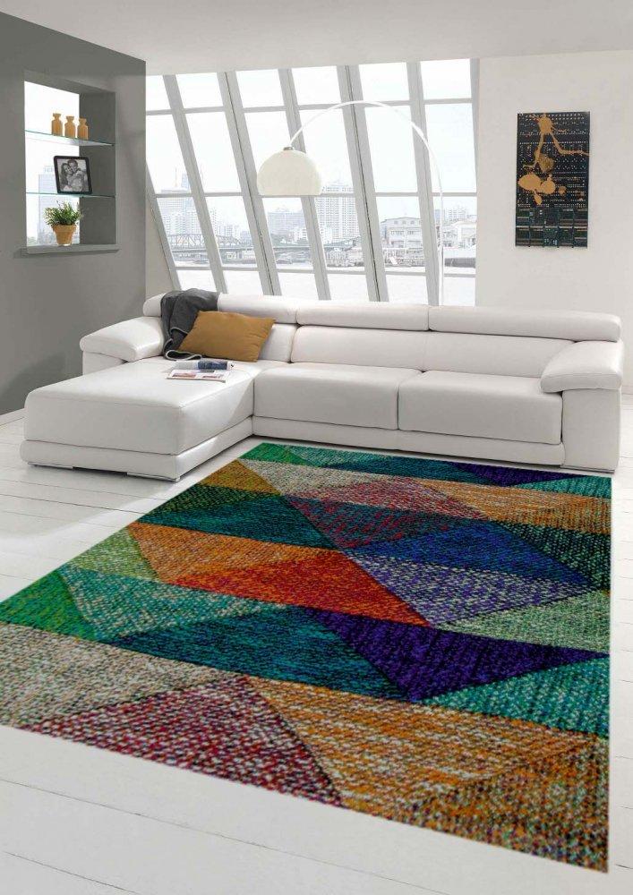 Designer und Moderner Teppich Marokkanisches Muster Multi Größe 200 x 290 cm