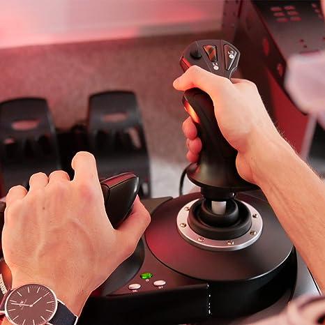 Thrustmaster T Flight Hotas X Joystick Und Schubhebel Mit Doppeltem Steuerrudersystem Tasten Und Programmierbaren Achsen Drehgriff Trigger Pc Usb Kompatibel Games