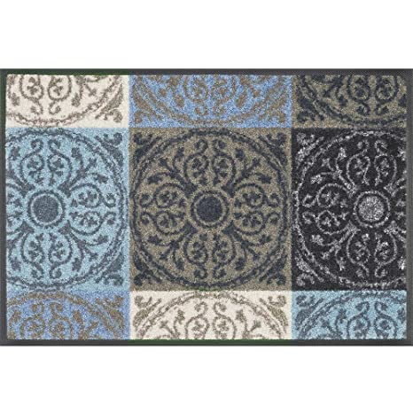 Fußmatte wash+dry Design Mille Fiori taupe 40x60 cm