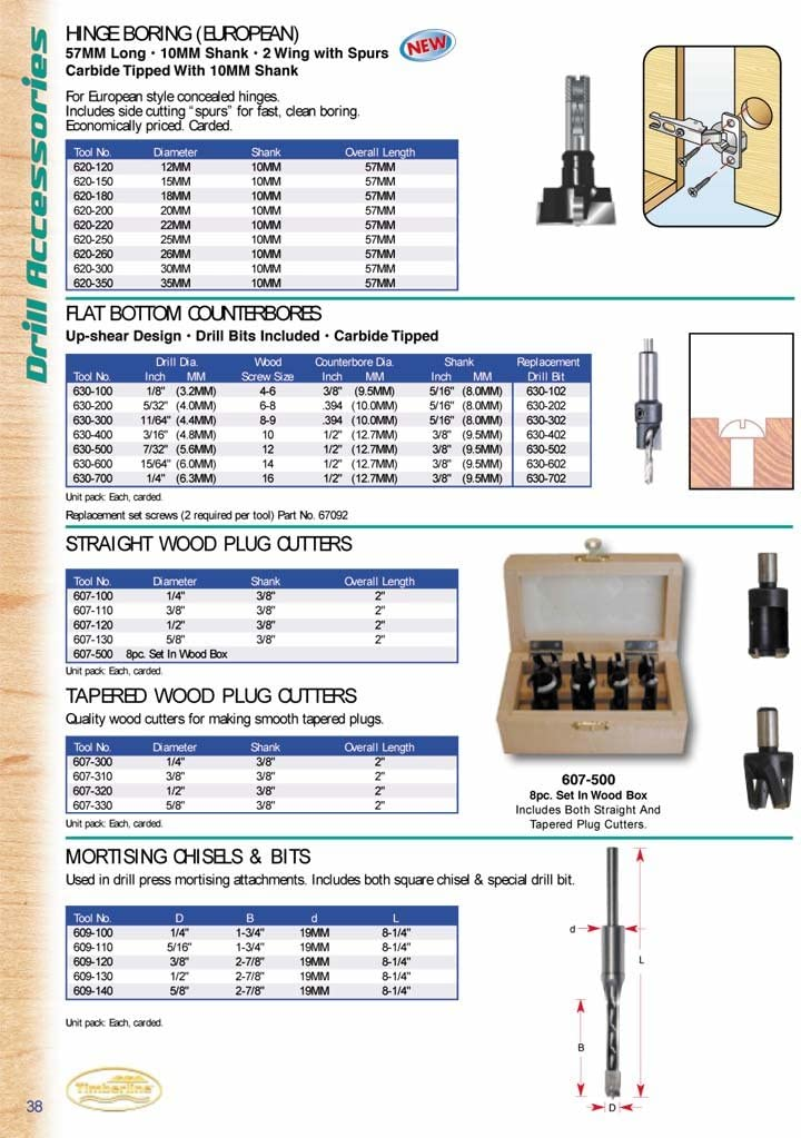 630-500 Timberline Flat Counter-Bore