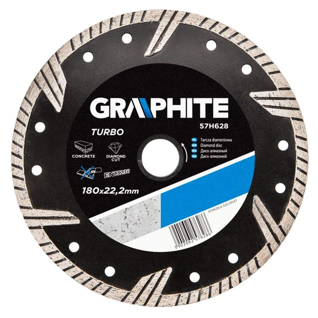 Graphite professional turbo diamond disc blade 180x22.2 wet & dry cutting (GRA 57H628)
