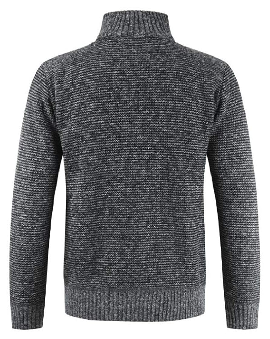 M/&S/&W Mens Regular Fit Contrast Thick Thermal Sweaters Cardigan Full Zip Outwear