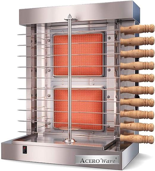 Acero Ware Parrilla Vertical automática de Gas propano y eléctrico ...