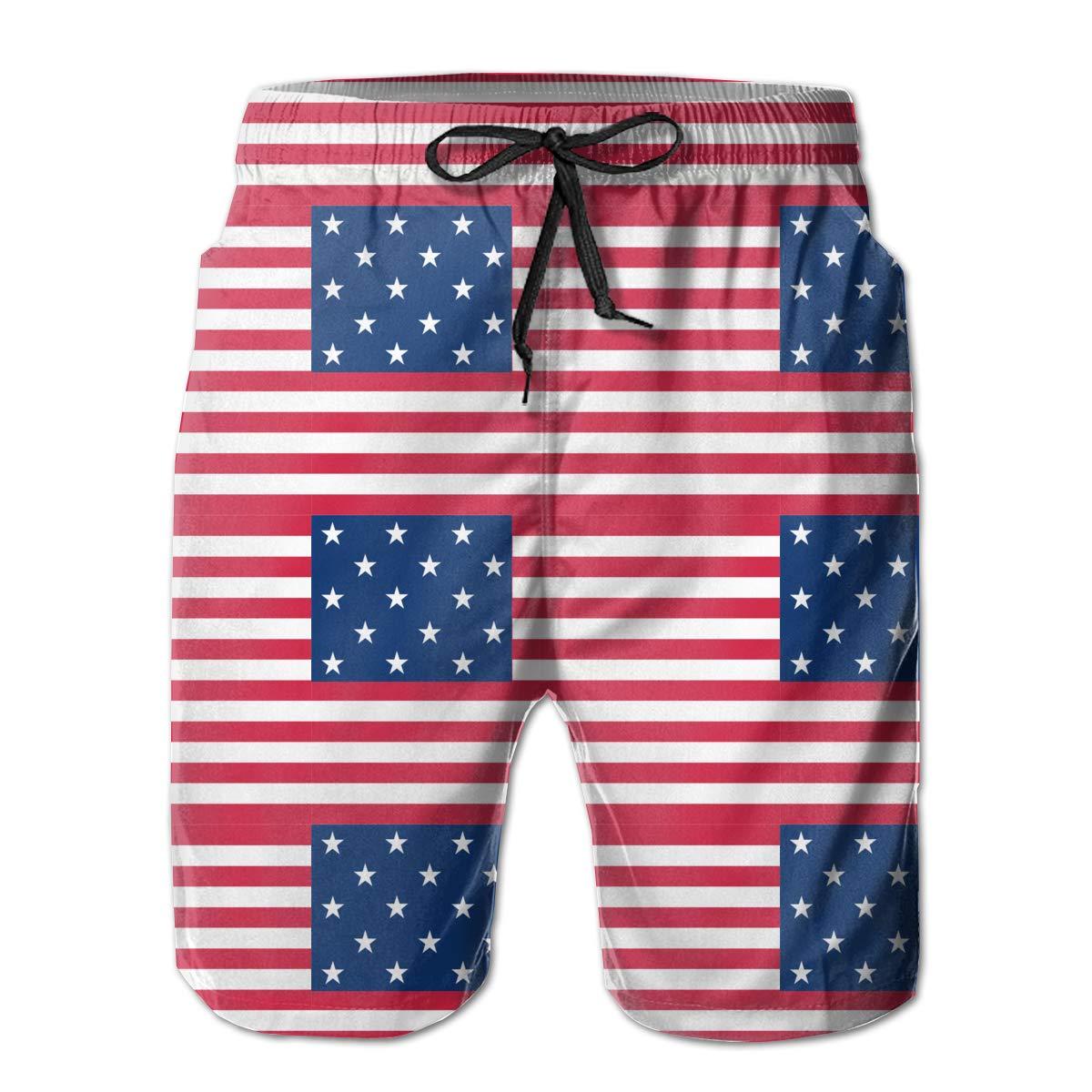 Star Spangled Banner Flag Mens Swim Trunks Board Shorts