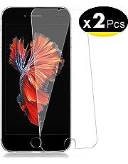 """NEW'C Lot de 2, Verre Trempé pour iPhone 6, 6S (4.7""""), Film Protection écran - Anti Rayures - sans Bulles d'air -Ultra Résistant (0,33mm HD Ultra Transparent) Dureté 9H Glass"""