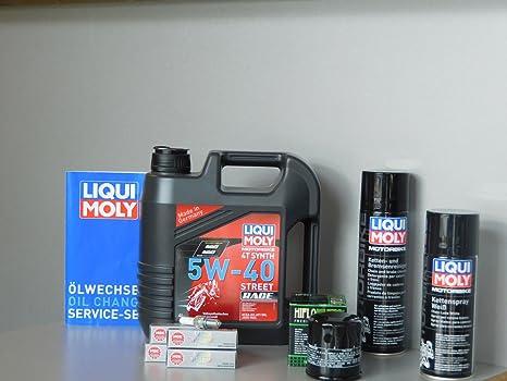 MotorFunSports Kit de mantenimiento Kawasaki Versys 1000 aceite de aceite Bujía Service Inspección