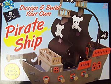Amazoncom Build Your Own Pirate Ship Game Toys Games
