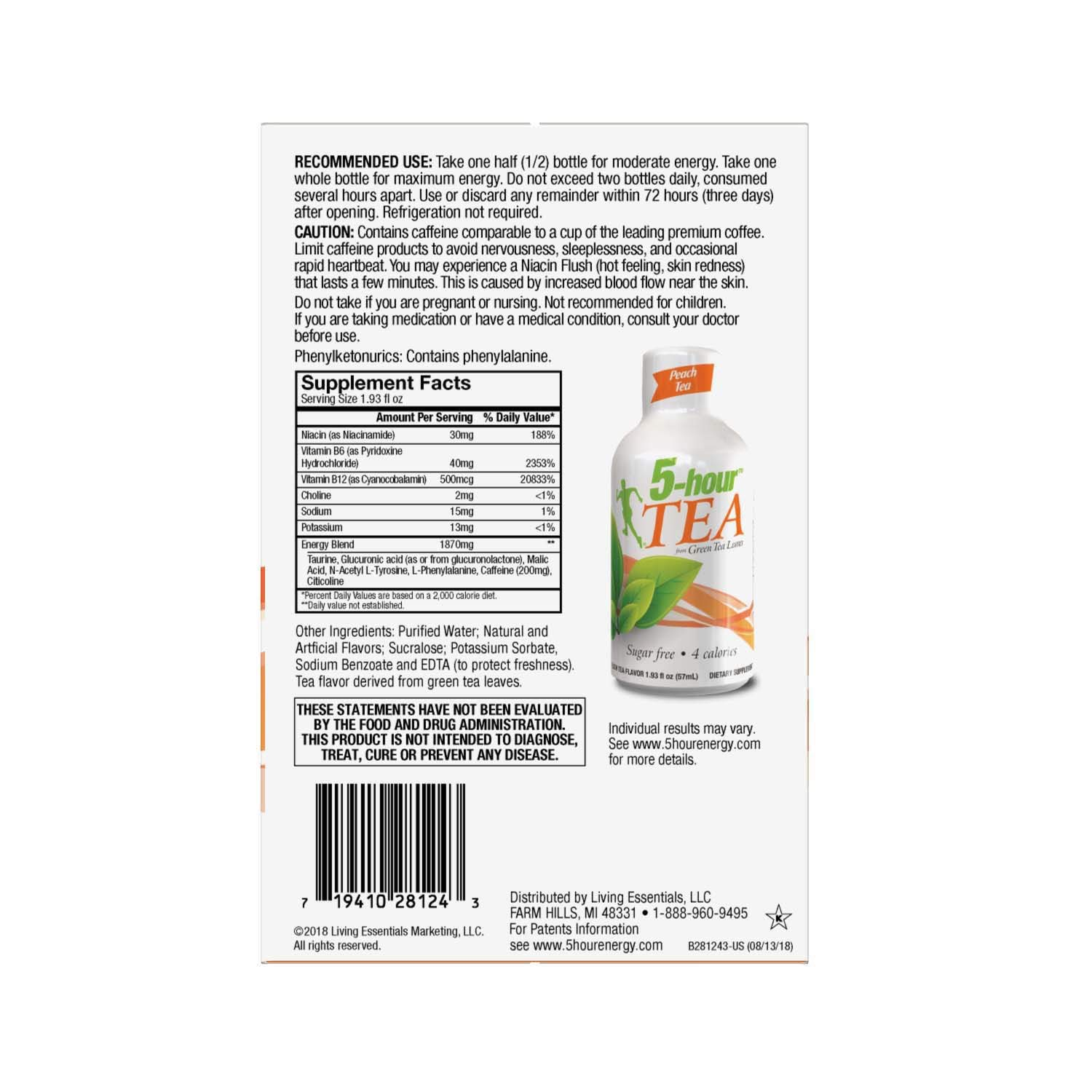 5-hour Green TEA - Peach Flavored - 24 Count by 5-Hours (Image #5)
