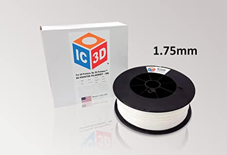 Amazon.com: ic3d Pla filamento para impresora 3d dimensional ...