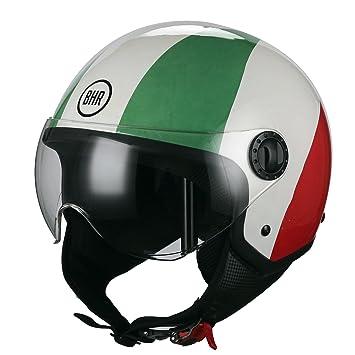 BHR Casco Moto Demi-Jet Linea One 801, bandera Italia, M (57