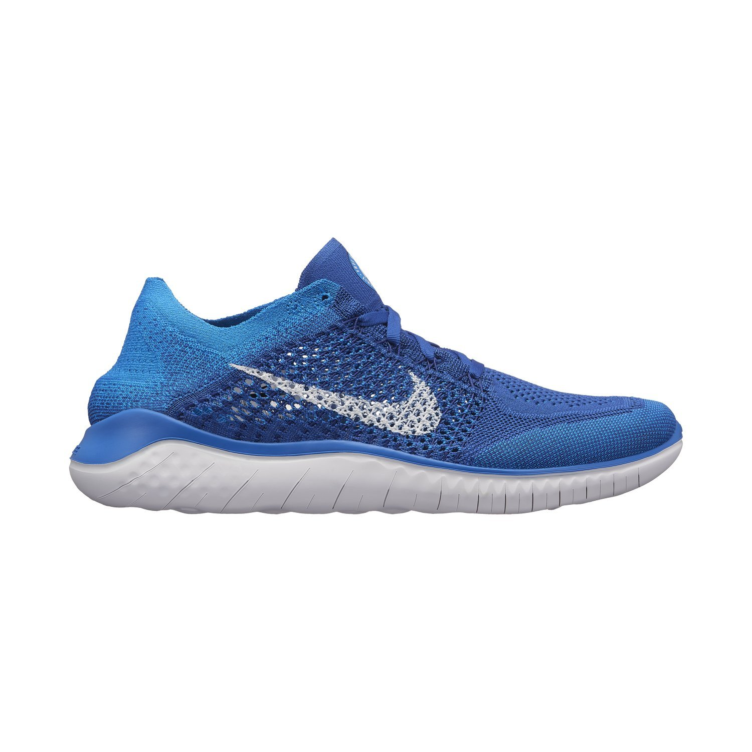 272cb1b95454 NIKE Men s Free Rn Flyknit 2018 Game Royal White Photo Blue Nylon Running  Shoes 9 D(M) US