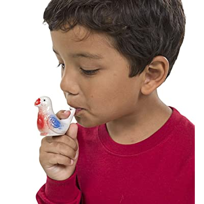 Streamline Porcelain Bird Water Whistles, set of 4: Toys & Games
