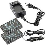 DSTE 2-pacco Ricambio Batteria + DC29E Caricabatteria per Fujifilm NP-120 FinePix 603, FinePix F10, FinePix F10 Zoom, FinePix F11, FinePix F11 Zoom, FinePix M603, FinePix M603 Zoom
