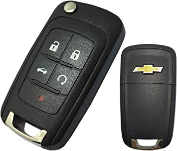Pack of 2 ECCPP Replacement fits for Uncut Keyless Entry Remote Key Fob 2010-2016 Chevrolet Camaro//Chevrolet Cruze//Chevrolet Equinox//Chevrolet Malibu OHT01060512