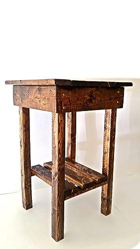 Beau Amazon.com: Rustic End Table/Night Stand/Bed Side Table/Rustic Table/ Aged/Side  Table/Vintage/Wood//Handmade/Custom/New Materials/Farmhouse: Handmade