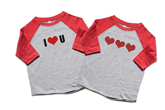 Amazon Com Heads Up Shirt Designs Twin Boy And Girl Valentine S Day