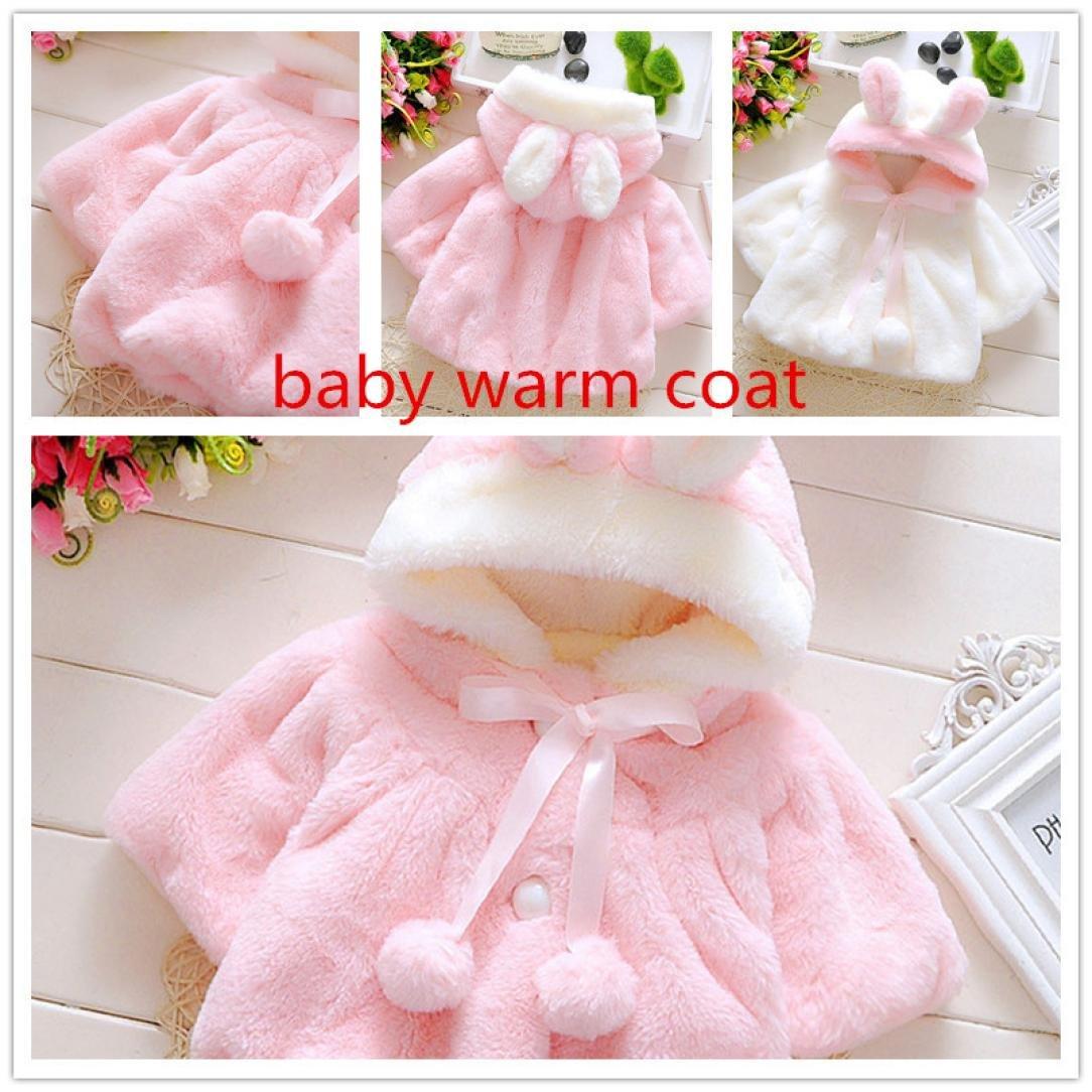 Muxika Fashion Baby Girl Fur Winter Warm Coat Cloak Jacket Thick Warm Clothes