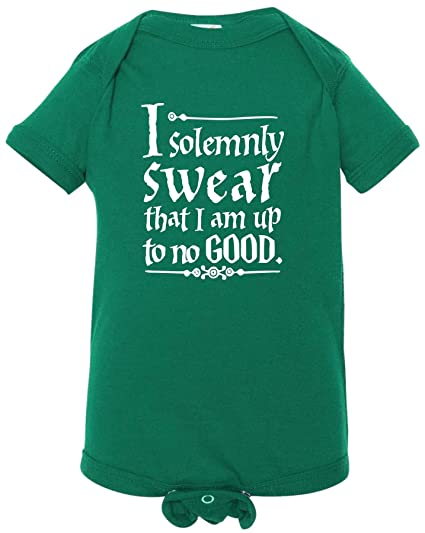 049d88c3 Kid Allstar ST. Patrick's Day Green Harry Potter Solemnly Swear Up To No  Good Baby