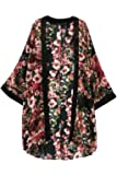 Sannysis Damen Blumen-Blumendruck Chiffon Kimono Cardigan