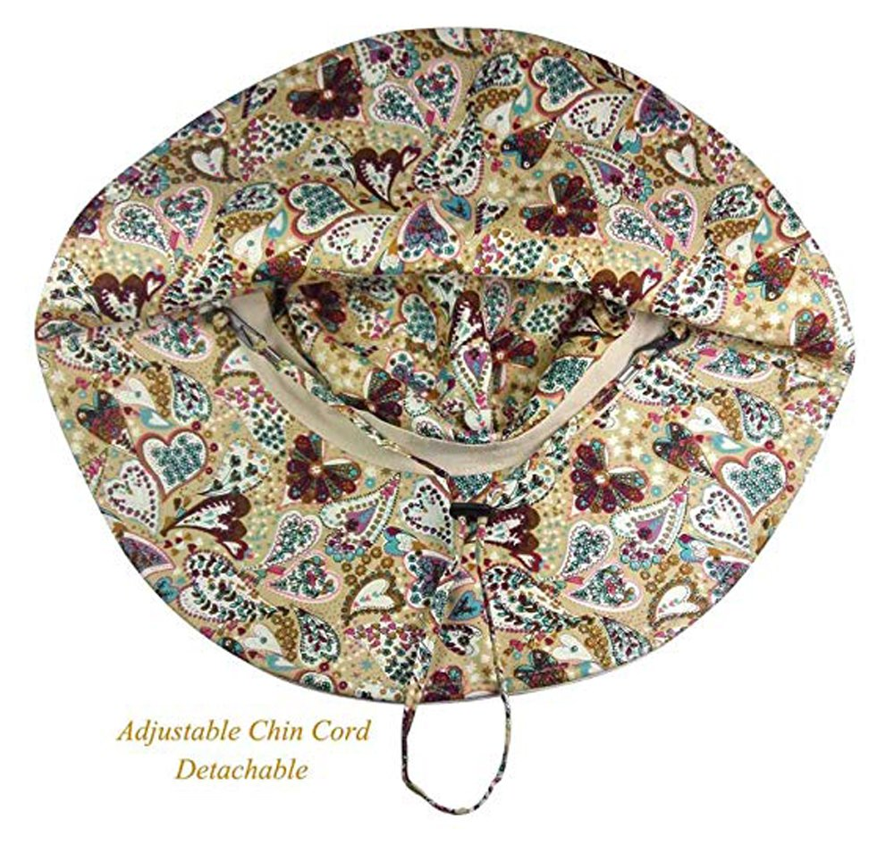 Lovely Ladies Ladies Sun Hat Floppy Protection UV UPF 50+ LAYAN-B Chapeaux de Soleil pour Les Femmes Packable