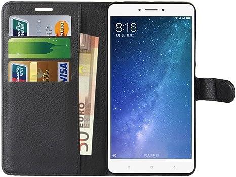 Xiaomi Mi MAX 2 Funda, Anzhao Funda de Cuero Piel Carcasa con ...