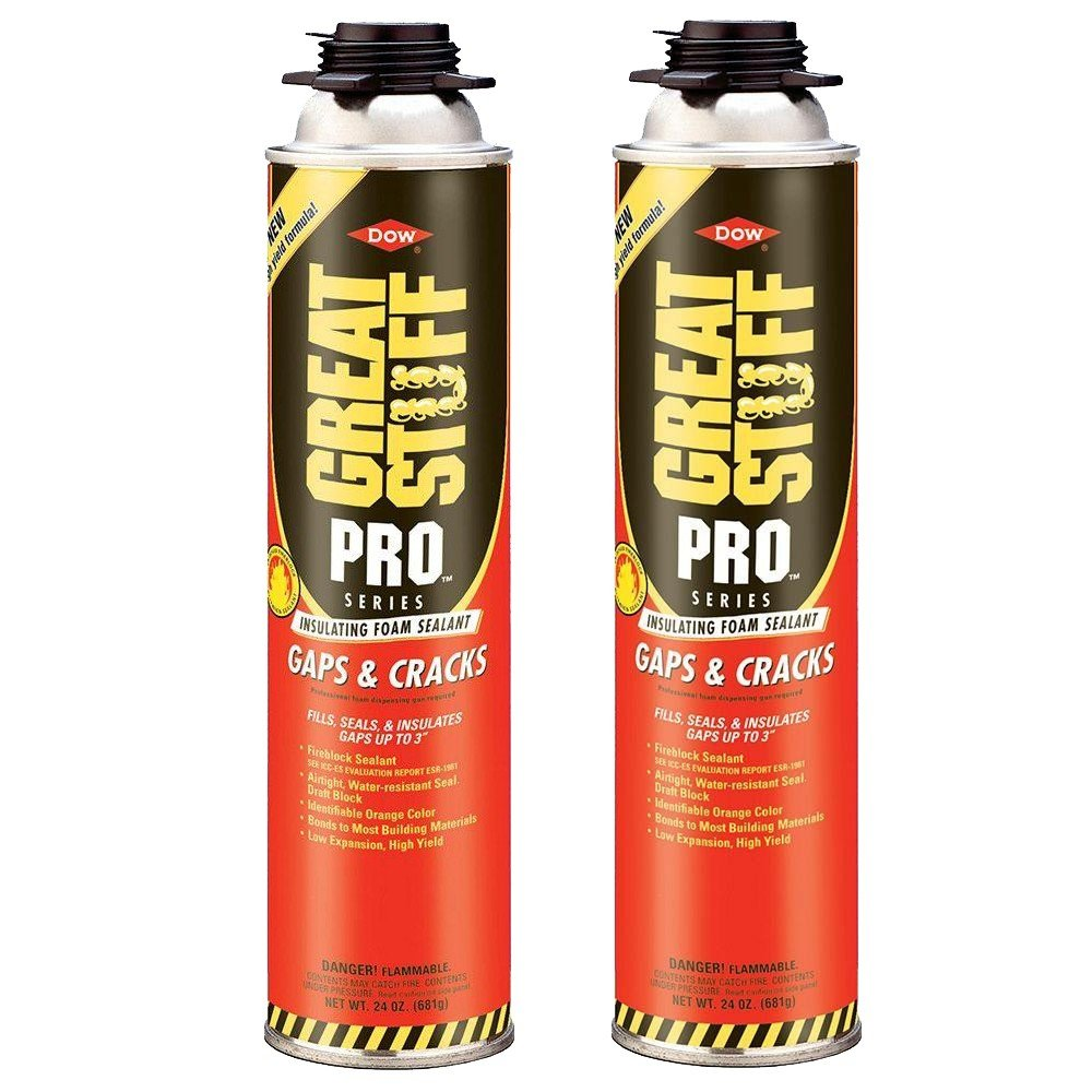 Dow Great Stuff Pro Gaps and Cracks 24 oz Gun Foam - 341557 - Pack of 2
