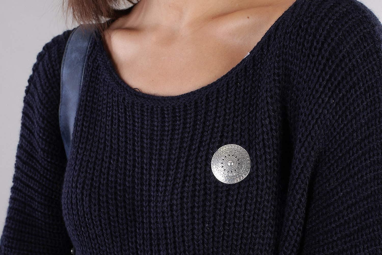Ponchos pour Foulards ch/âles Ronde avec Motif azt/èque dentel/é pendentifs 05050090 styleBREAKER Broche de Bijouterie aimant/ée pour Dames