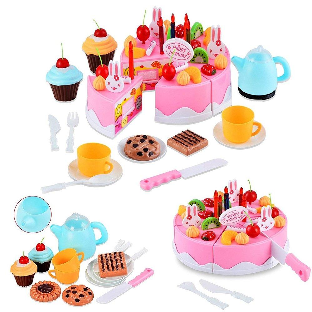 Befied 54 Stück Kinder Kitchen Spielzeug Kunststoff DIY Frucht ...