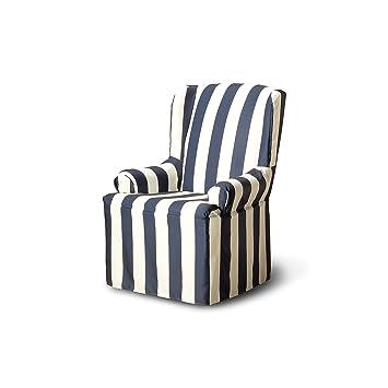 CoverWorks HAMPWINGMBLU1 Havana Wing Chair Slipcover, Midnight Blue
