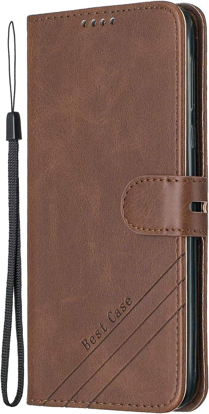NEHEX120470 Blau Klapph/ülle Leder Flip Case Schutzh/ülle Tasche Cover mit St/änder Magnet Kartenfach f/ür Motorola Moto G7 Play NEXCURIO H/ülle Moto G7Play