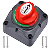Kohree Battery Disconnect Switch 1-2-Both-Off, 12V-48V RV Battery Selector Power Cutoff Switch for Marine Boat Car ATV…