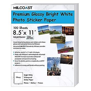 Amazon.com: Milcoast Glossy Full Sheet 8.5