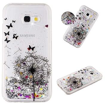 EuCase Funda para Samsung A5 2017,Carcasa Samsung A5 2017 Silicona Glitter Líquido Quicksand Transparente Suave TPU Anti-arañazos Sparkly Cute Cover ...