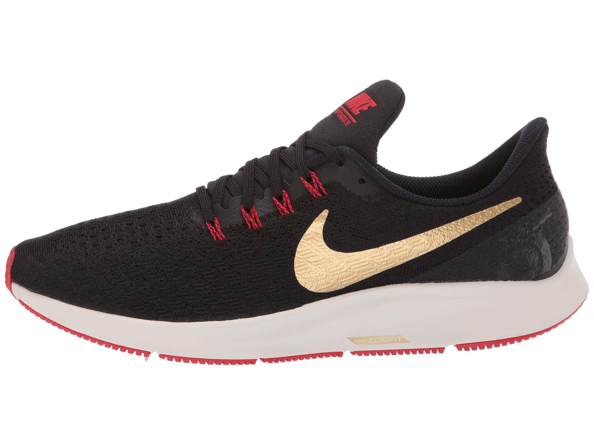 Nike Air Zoom Pegasus 35 Sz 6.5 Mens Running Black/Metallic Gold-University Red Shoes by Nike (Image #6)