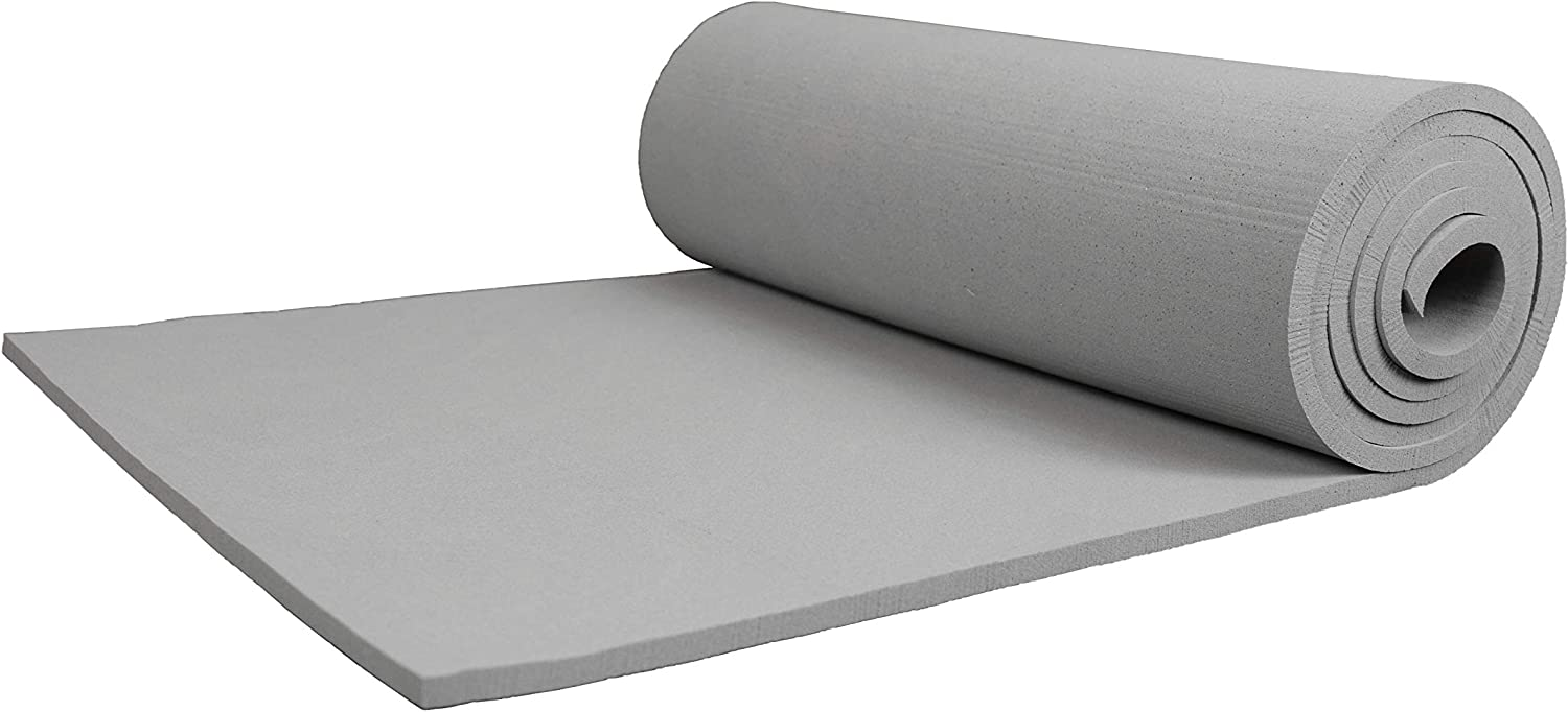 XCEL - Extra Soft Craft Foam Roll with Minor Defects, Grey, Size 54 Inch x 12 Inch x 1/4 Inch