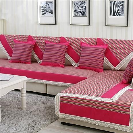 Amazon.com: four seasons sofa towel Anti static denim stripe sofa ...