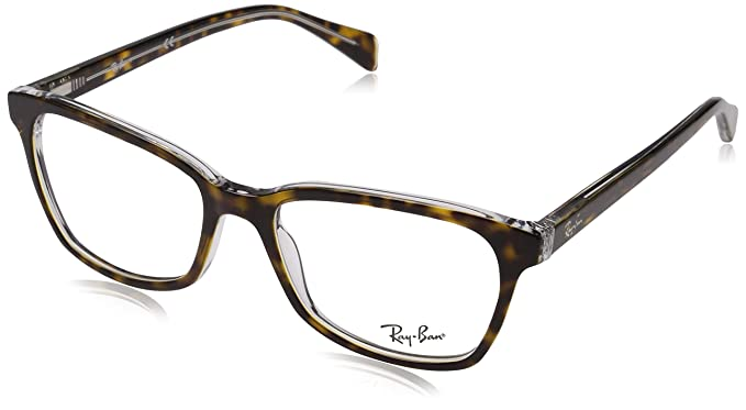 f294e445784d8 Ray-Ban Women s 0rx5362 No Polarization Square Prescription Eyewear Frame  Top Havana on Transparent 54