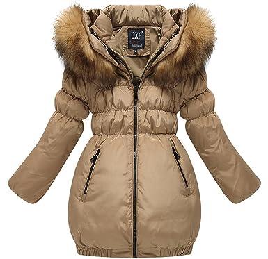 9bbac1f5d Beyond©Kids Big Girl Down Coat hooded Jacket winter Coat (110 AGE 3 ...