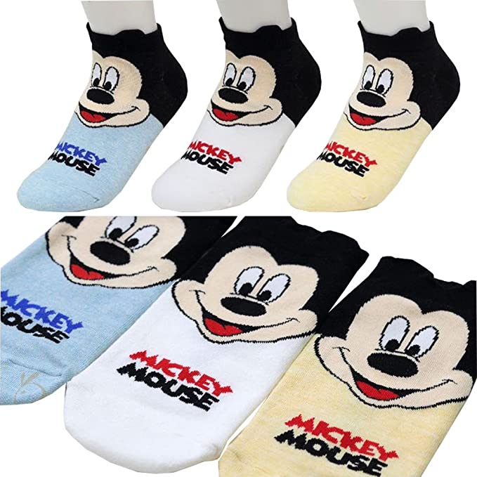 Small luxury socks factory Calcetines de Corte bajo Calcetines de Mickey Mouse para niñas Pack de 3 Metro: Amazon.es: Ropa y accesorios