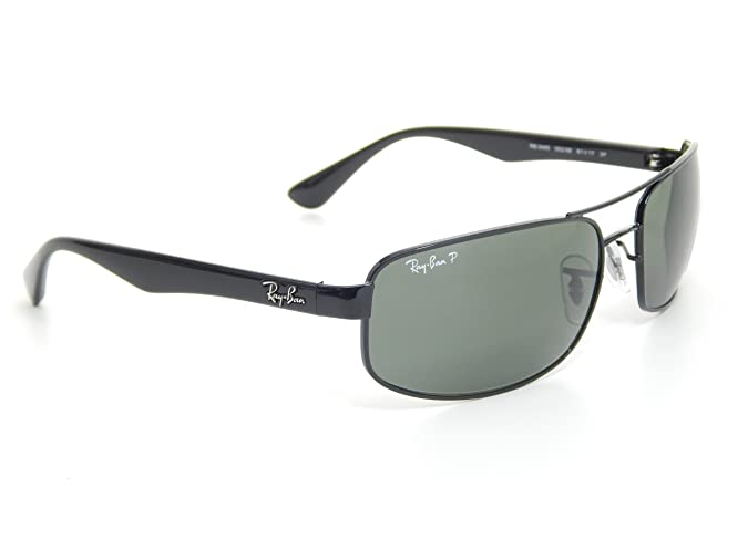 166fddda4f Amazon.com  Ray Ban RB3445 002 58 Black Crystal Green Polarized 61mm  Sunglasses  Shoes