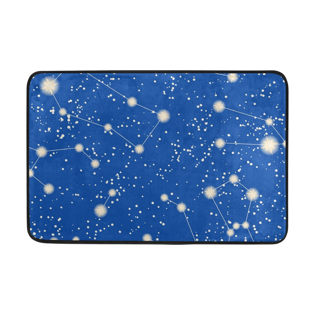 60/x 40/cm f/ür den t/äglichen Gebrauch mit 12/Haken wasserdicht Anti-Rutsch-bathro JSTEL Muster mit Sternen und Sternbilder 3-teilig Badezimmer Set waschbar