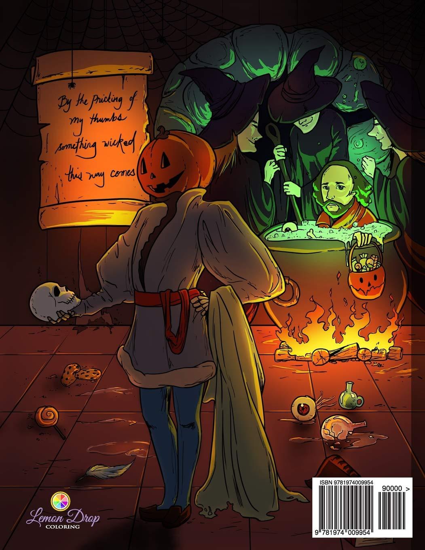 Amazon com: Spooktacular Halloween Adult Coloring Book