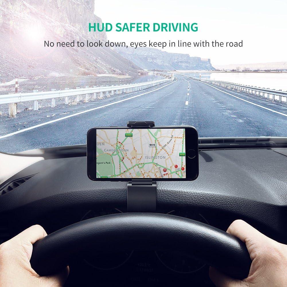 UGREEN Supporto Auto Smartphone Universale su Cruscotto Porta Cellulare per Dispositivi 4-6.5 Come GPS,Tomtom,iPhone XS X 8 Plus,Samsung S9 S8,Huawei P20 Lite Mate 20,Xiaomi Mi A2 Lite,LG,etc.