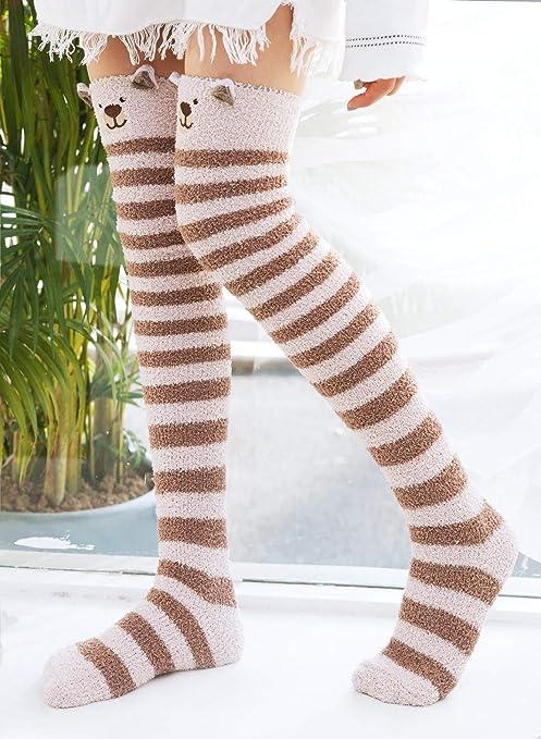 DayUBoo Banana Pattern Womens Thick Knee High Warm Multi Color Knee High Socks