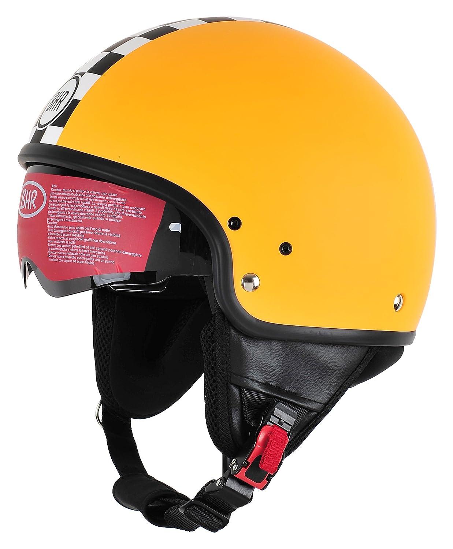 BHR Motorrad Helm 802 Demi-Typ mit Visier Versenkbare,Italien 58 cm L