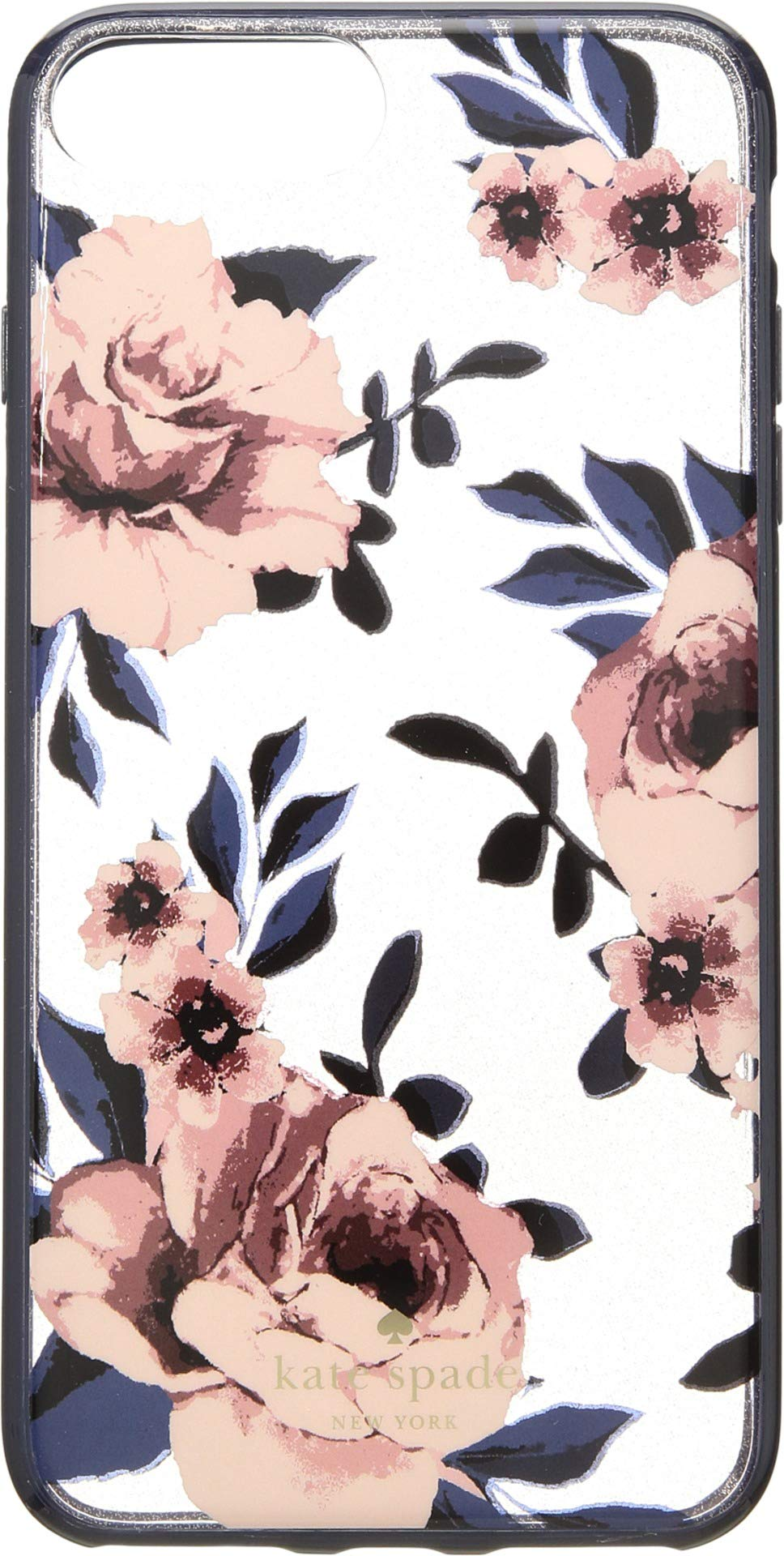 Kate Spade New York Women's Glitter Prairie Rose Phone Case for iPhone 8 Plus Multi One Size